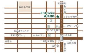 ルシェルシェ西田辺店地図